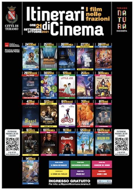 itinerari di cinema 2021