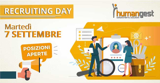 recruting day humangest 7 settembre 2021
