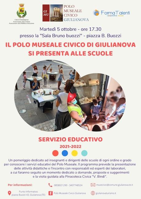 locandina servizio educativo 5 ottobre 2021