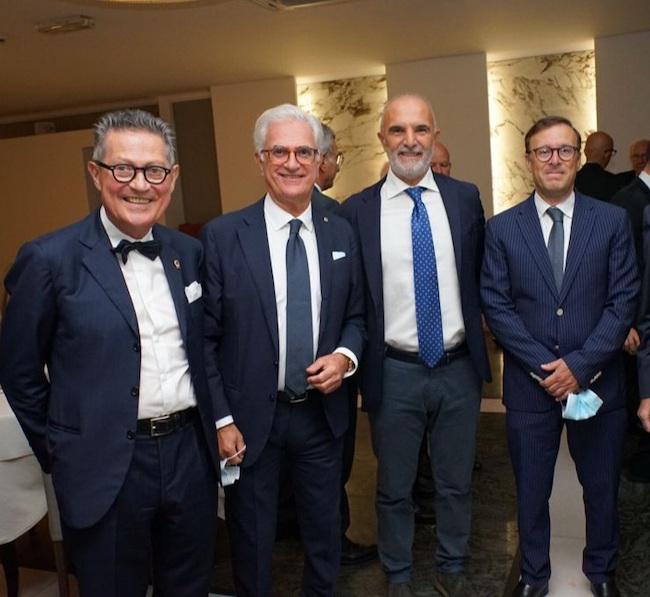 da sinistra Franco Saporetti, Giuliano Lombardi, Carlo Masci, Giancarlo Di Vincenzo